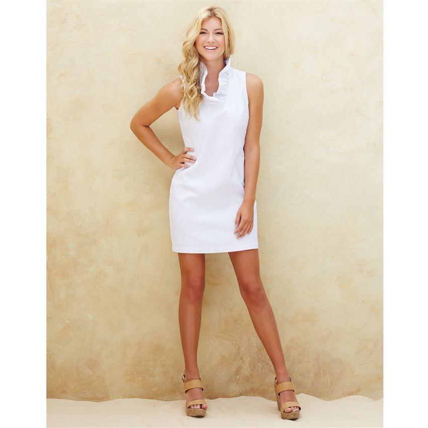 725c5676c0d Sailor Chambray Ruffle Dress White Chambray
