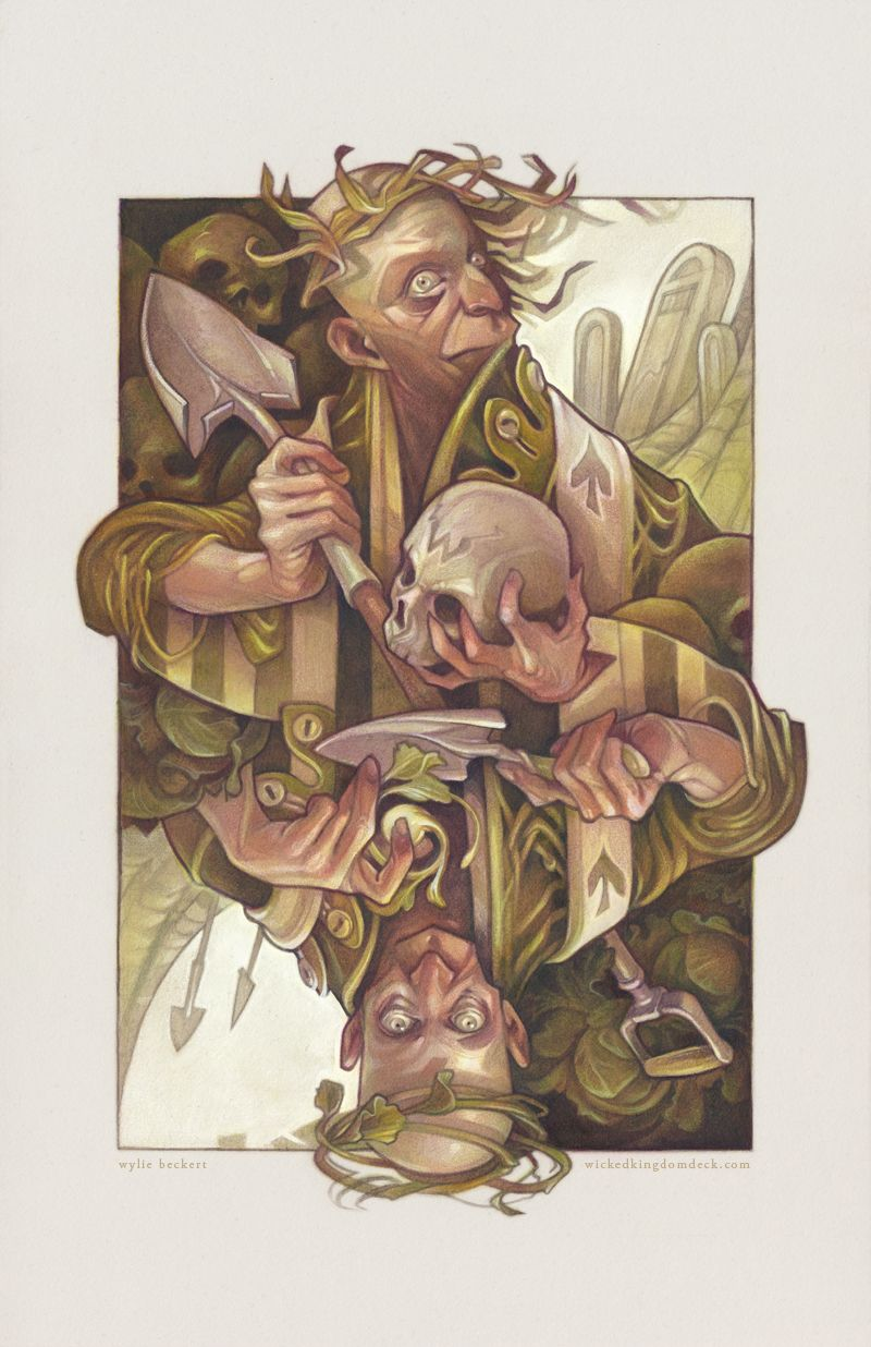 The King of Spades by Wylie Elise Beckert | Illustration | 2D | CGSociety