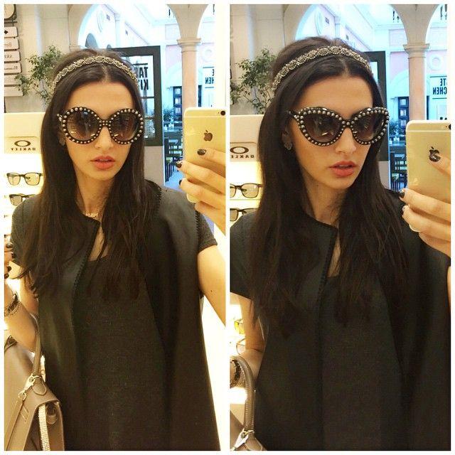 Prada studded/pearl sunglasses  rimazahran