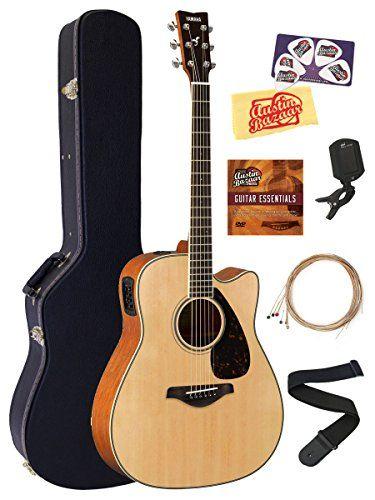Yamaha Fgx820c Acoustic Electric Guitar Bundle With Hard Case Tuner Strap Strings Austin Ba Acoustic Electric Guitar Acoustic Electric Best Acoustic Guitar
