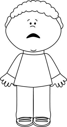 Black And White Scared Little Boy Clipart Black And White Coloring Pages For Boys Clip Art