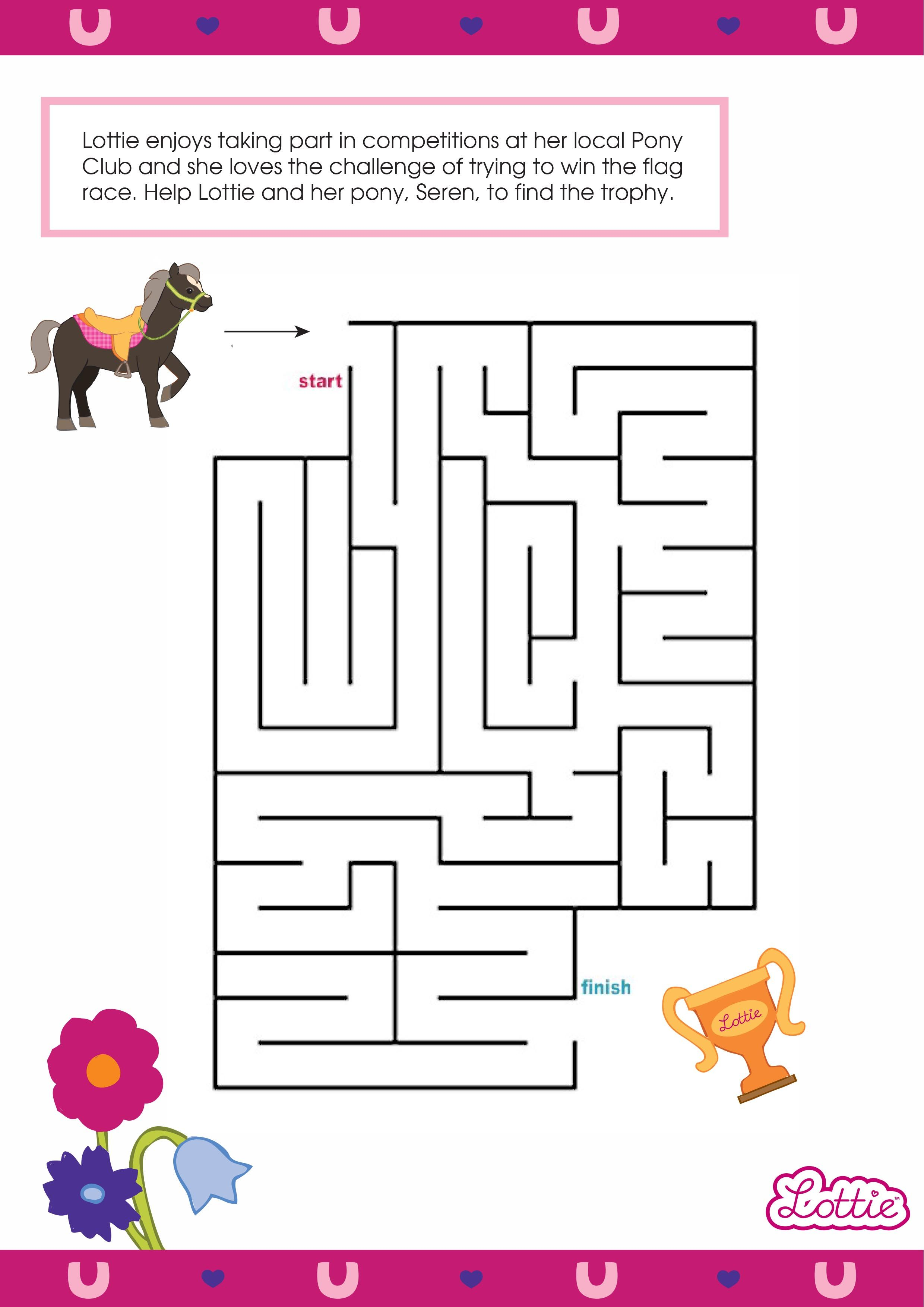 Influential image within vale design free printable maze