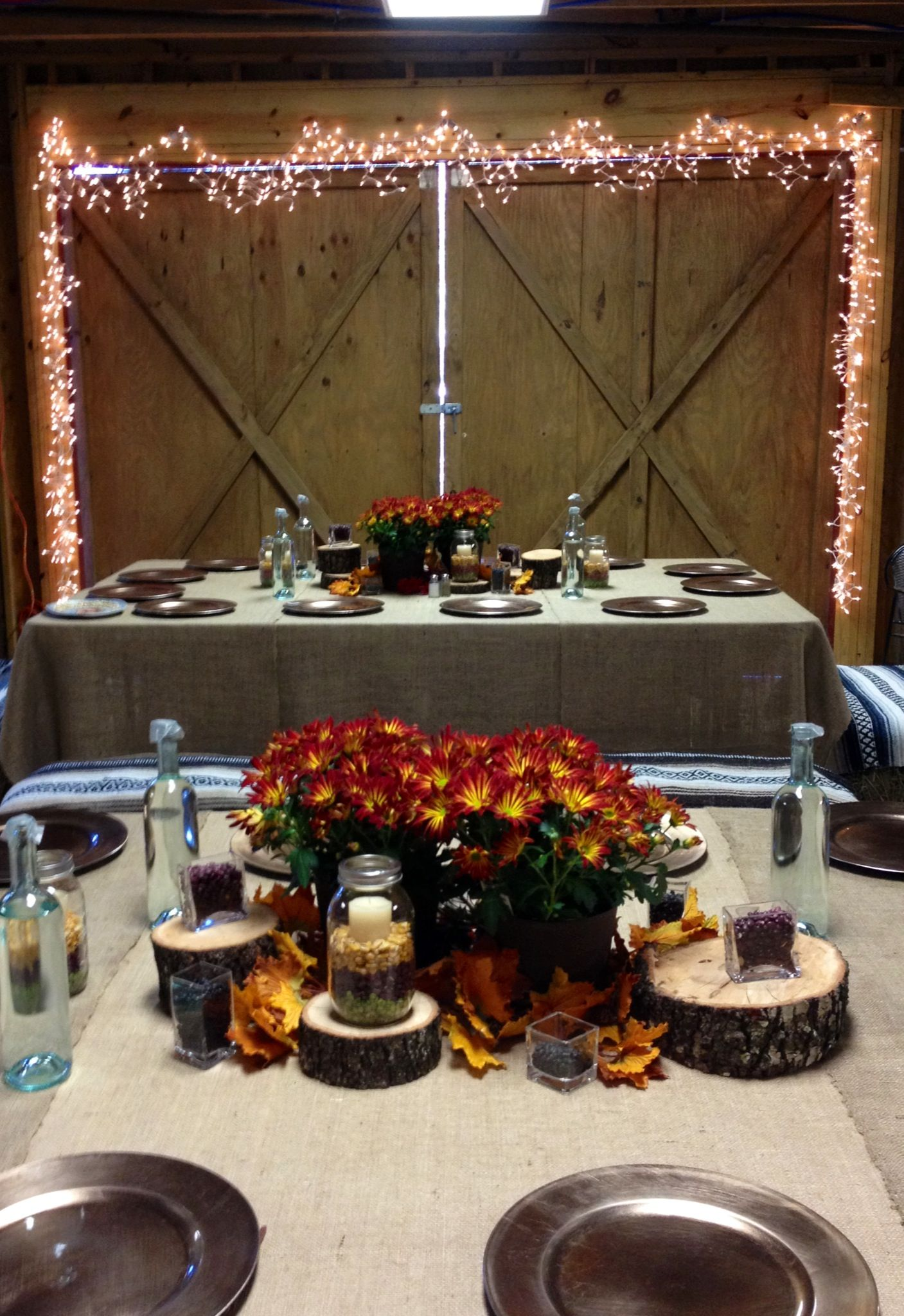 Our amazing thanksgiving setup thanks to Susan! | Rustic ...