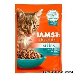 Iams Delights Chicken In Gravy Kitten Food 12 X 85g Kitten Food Cat Nutrition Cat Food Coupons