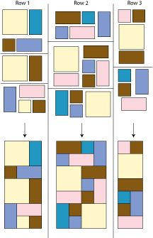 Quilt Patterns Using Squares And Rectangles : rectangle made quilt larger rectangles squares and units assemble in rows as shown Rag ...