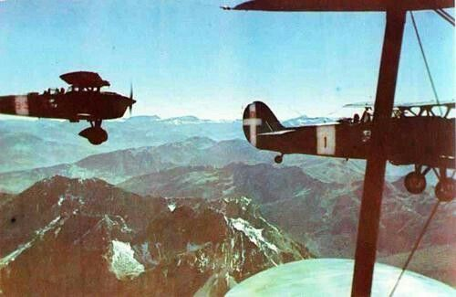 Italian fighters Ro.37 over Albany, WWII, pin by Paolo Marzioli