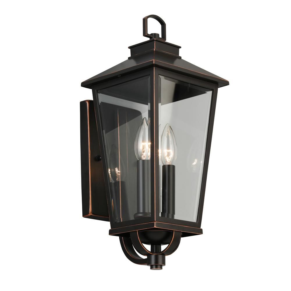 Home Decorators Collection Williamsburg Gas Style 2 Light Outdoor