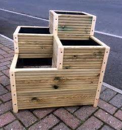 Image Result For Multi Level Planter Box Plans Planter Box Plans Wooden Decks Wooden Planters