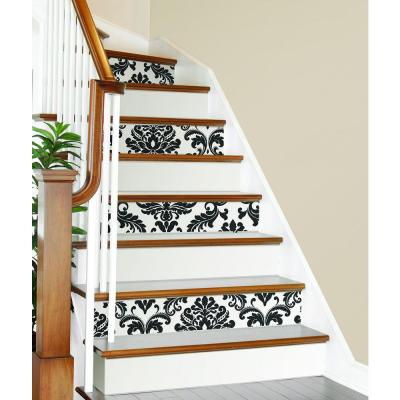 30 75 Sq Ft Ariel Black And White Damask Peel And Stick Wallpaper Geometric Wallpaper Home Peel And Stick Wallpaper White Damask