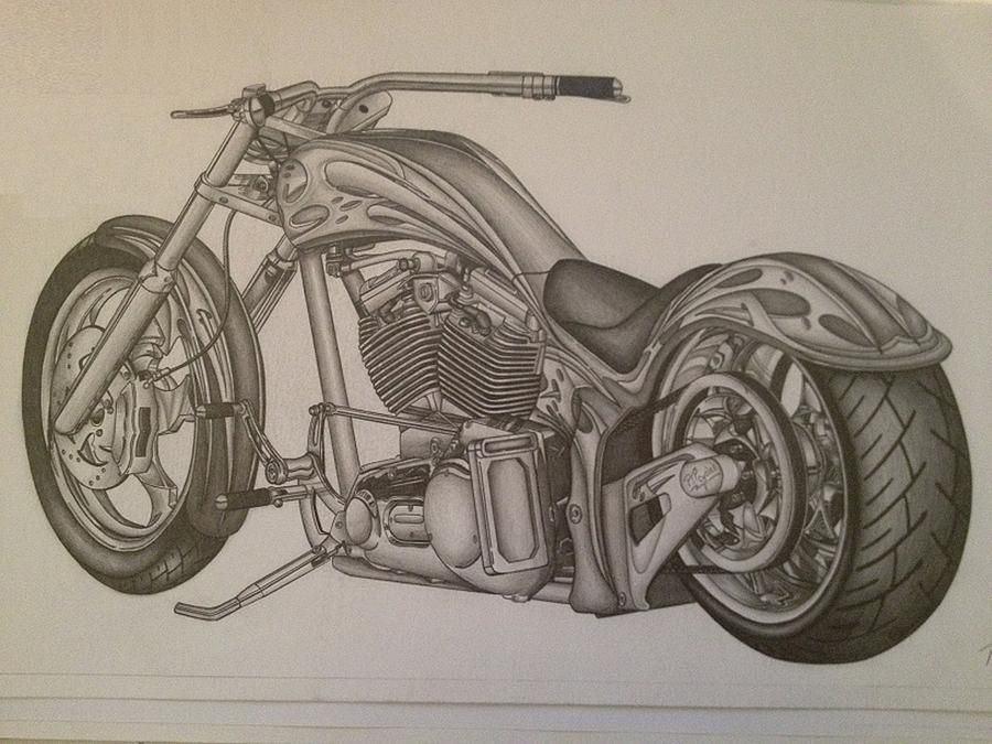 Triumph Motorcycle Drawings for