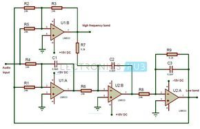 active audio crossover circuit audio crossover and filter subwoofer crossover circuit active crossover circuit diagram