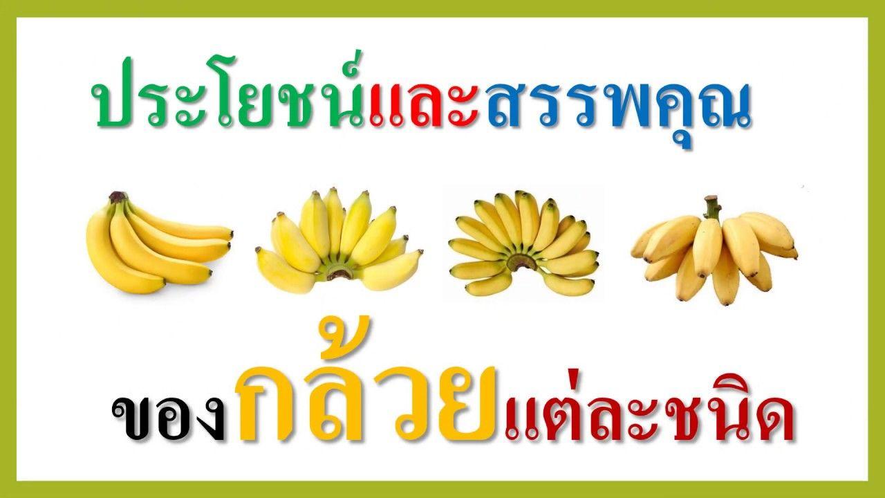ประโยชน์และสรรพคุณของกล้วยแต่ละชนิด