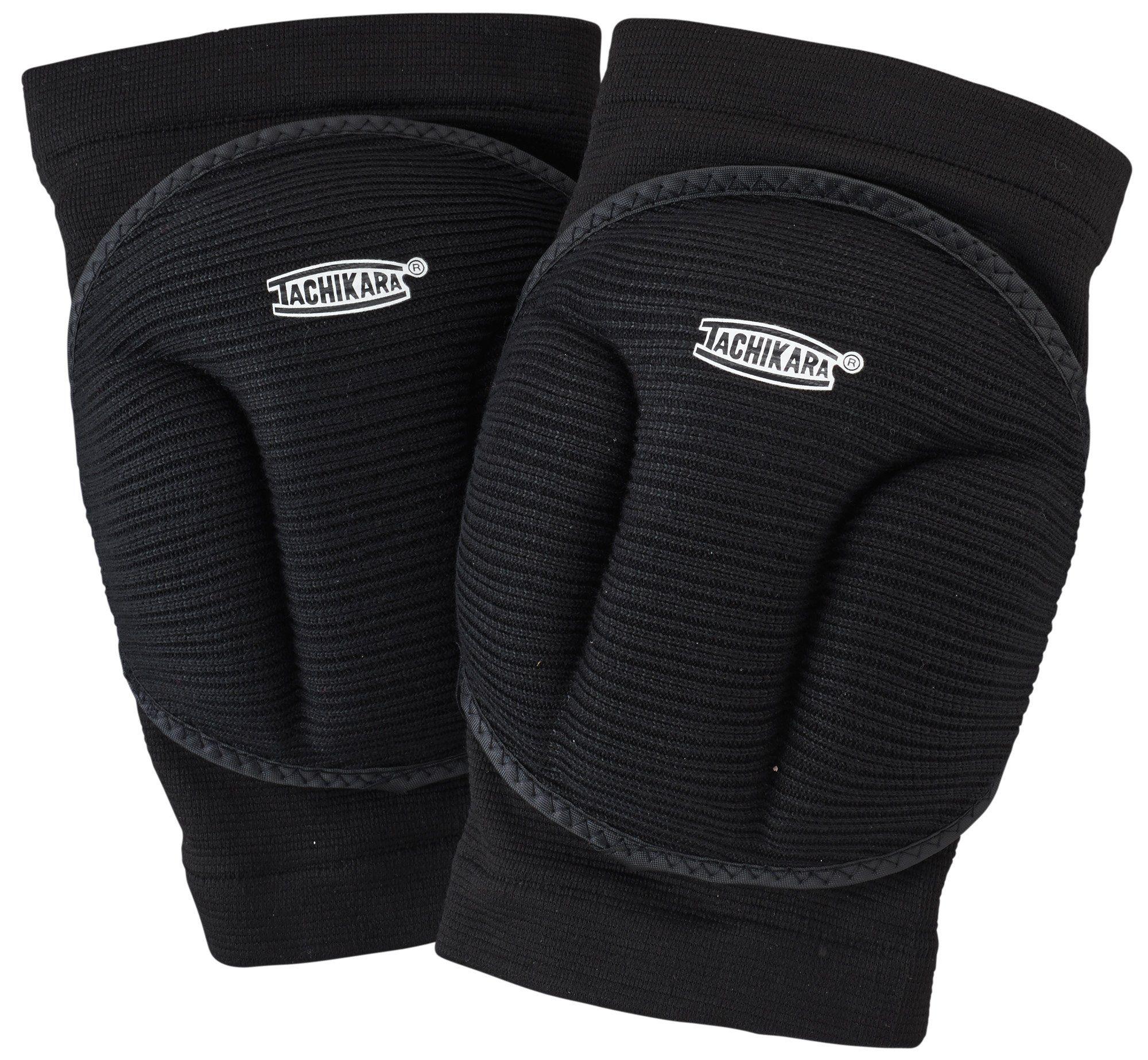 Tachikara Tkp Blk Bubble Knee Pad Black High Density Foam Inside A Solid Elastic Sleeve Allows Freed Volleyball Knee Pads Knee Pads Compression Leg Sleeves