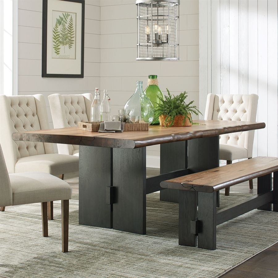 Scott Living Natural Honey Wood Live Edge Dining Table Design Inspirations