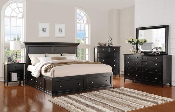 This king size bedroom set is a classic, stylish look that will