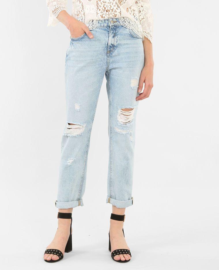Jeans girlfriend destroy azul