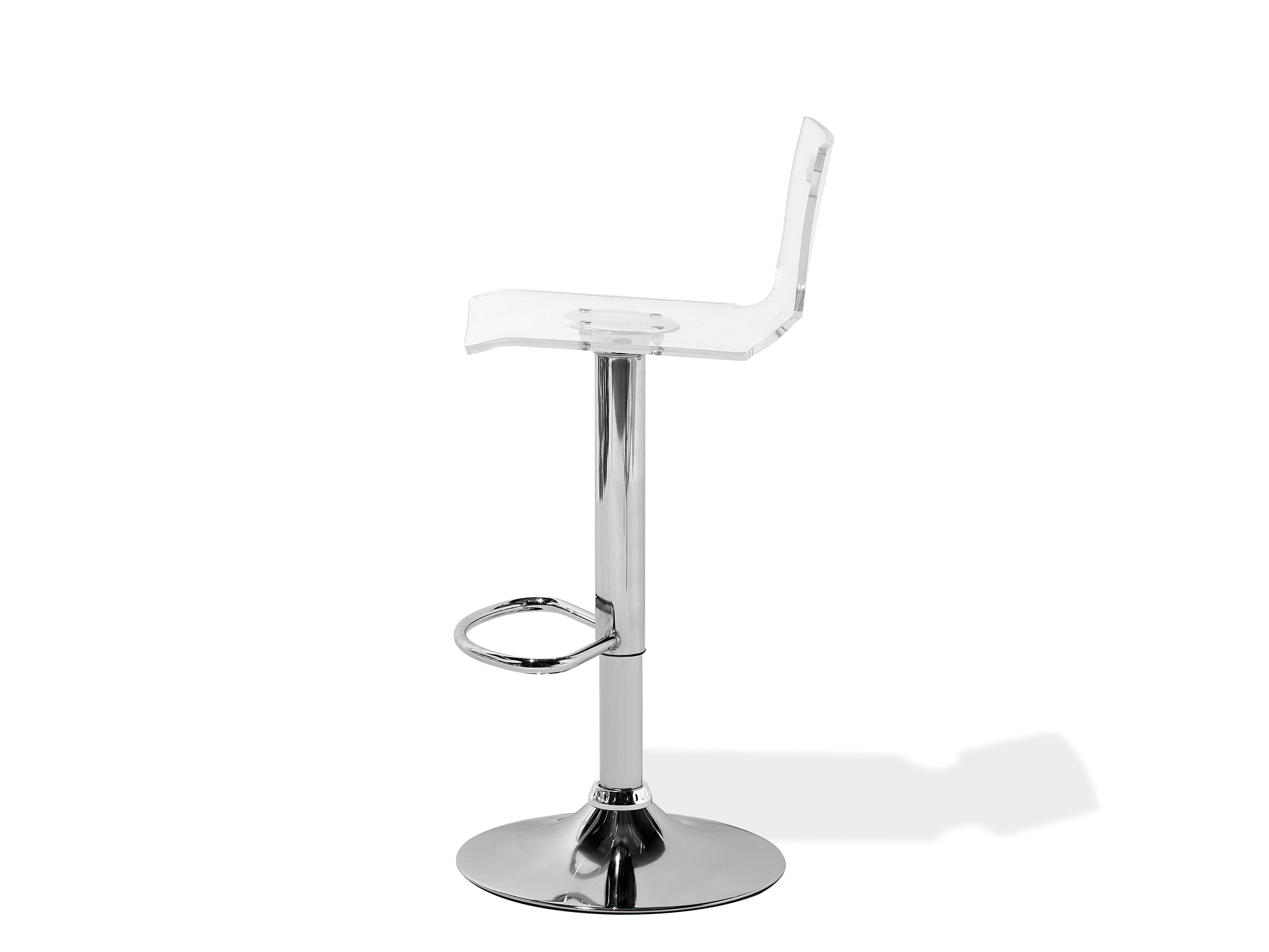 Set of 2 white plastic bar stools