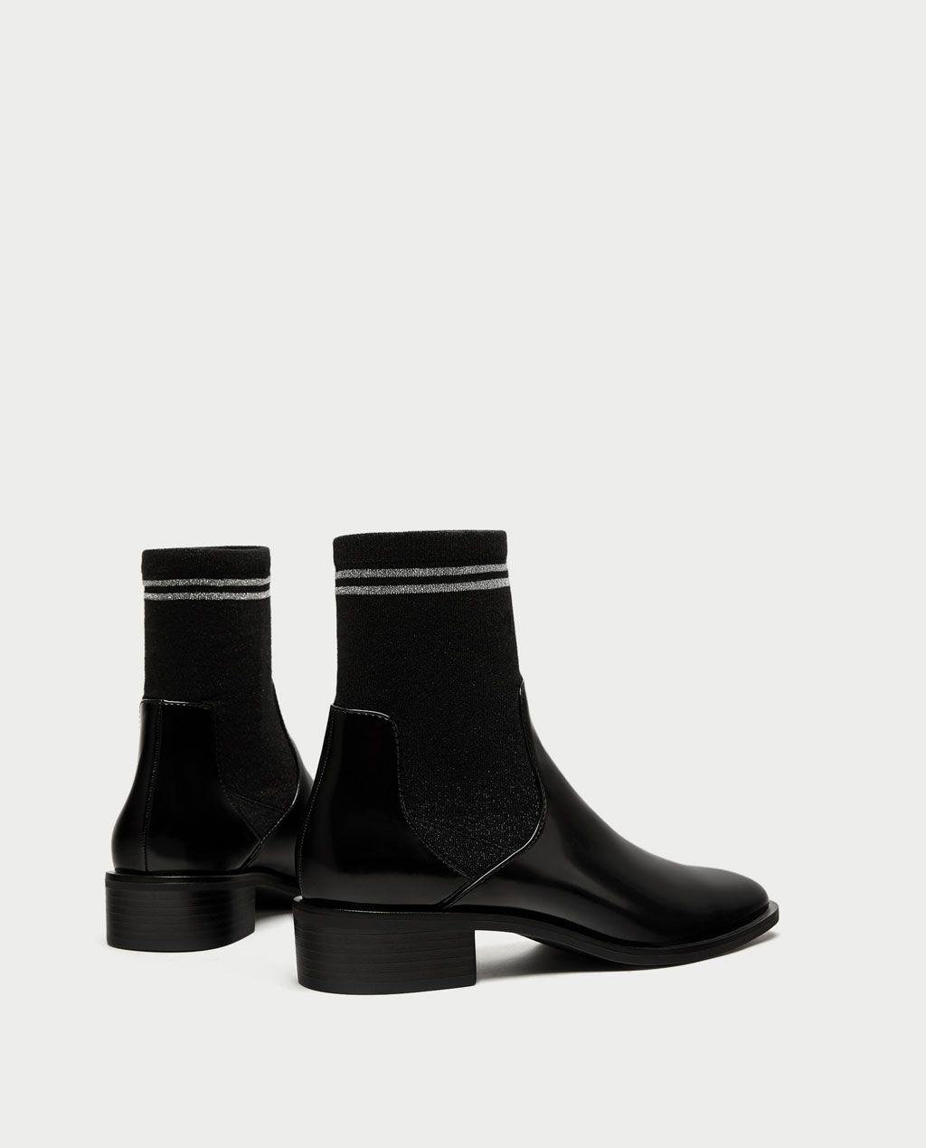 la meilleure attitude 2f115 187c3 Image 3 de BOTTINES PLATES TYPE CHAUSSETTES de Zara   shoes ...