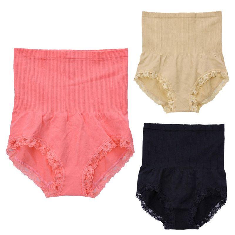 bb754ba1124f Women High Waist Postpartum Body Sculpting Briefs Maternity Abdomen Hips Panties  Underwear