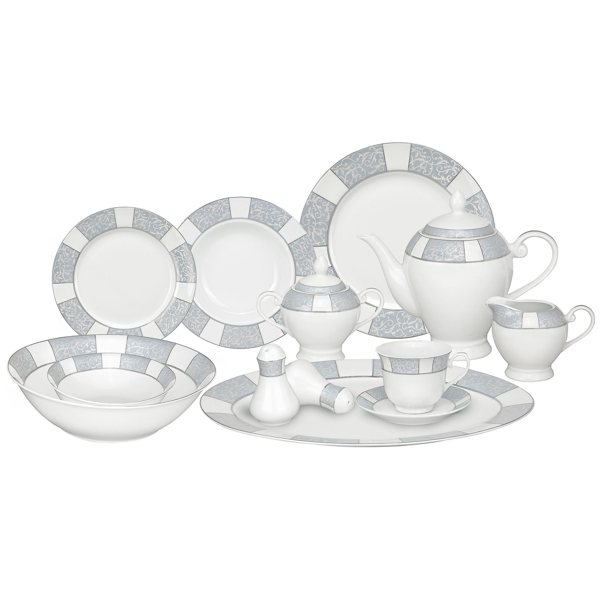 This dinnerware set from Lorren Home Trends is made of fine and durable porcelain complete  sc 1 st  Pinterest & This dinnerware set from Lorren Home Trends is made of fine and ...