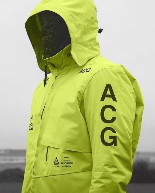 806f0f35a592 Frozen Yellow NIKELAB ACG Jacket by alavazo.design
