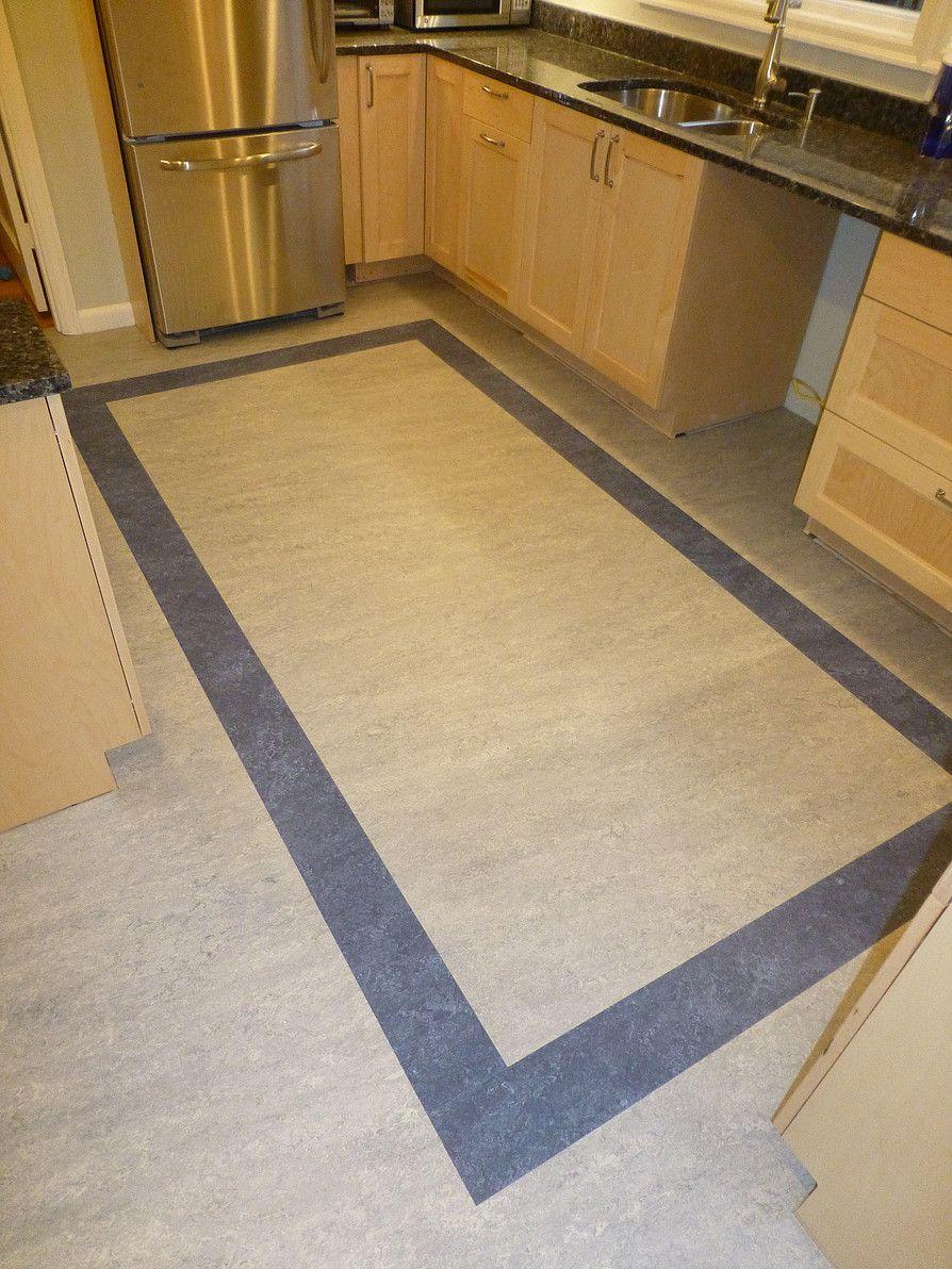 Marmoleum kitchen accent inlay | Floor design, Marmoleum ...