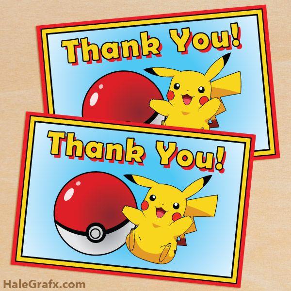 Pokemon Thank You Card Free Printable Pokmon Thank You Card