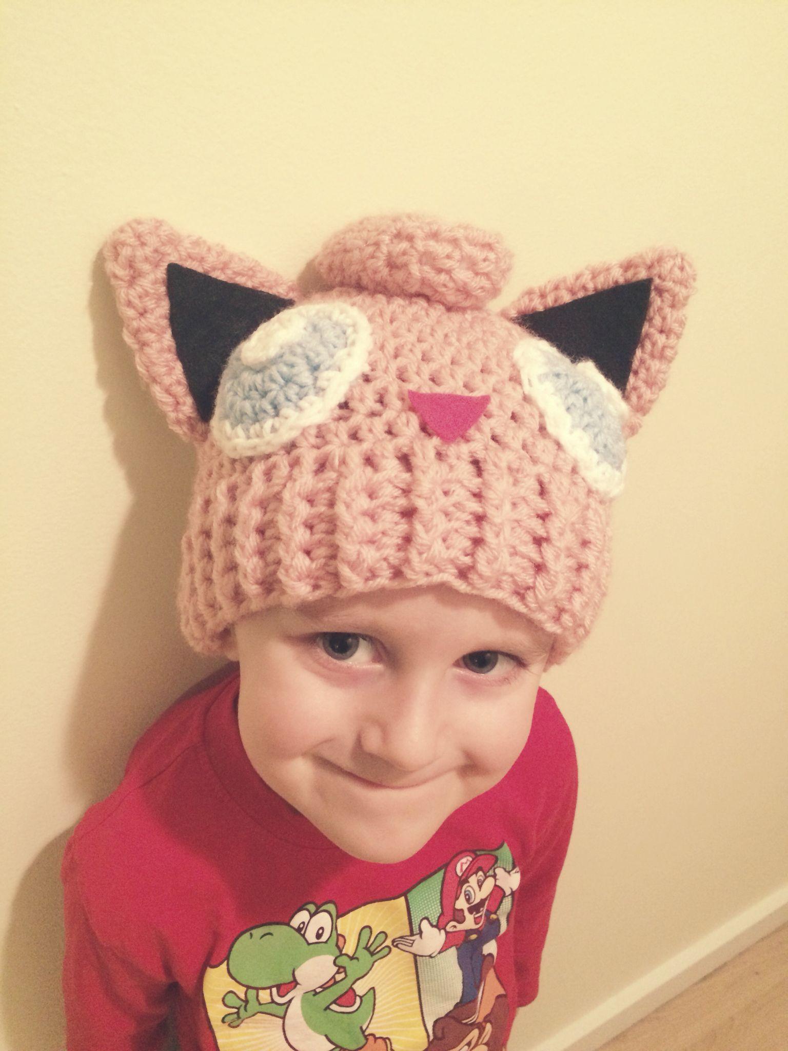 Crochet Pokemon Jigglypuff hat for my son | crochet | Pinterest ...