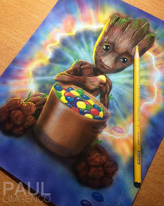 ae0535ac2 Pin by Lisa Karas on Groot   Baby groot, Marvel paintings, Painting