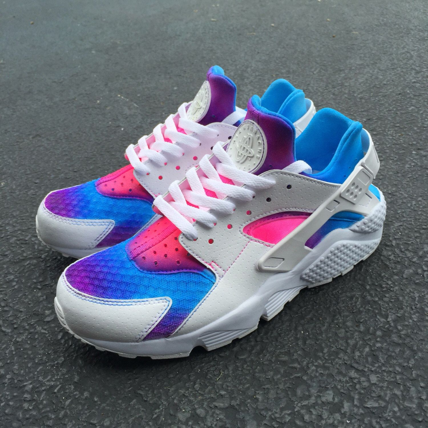 a0101a5e6254 ... custom nike huarache run women men pink purple blue all sizes jordan 11  force 1 retro