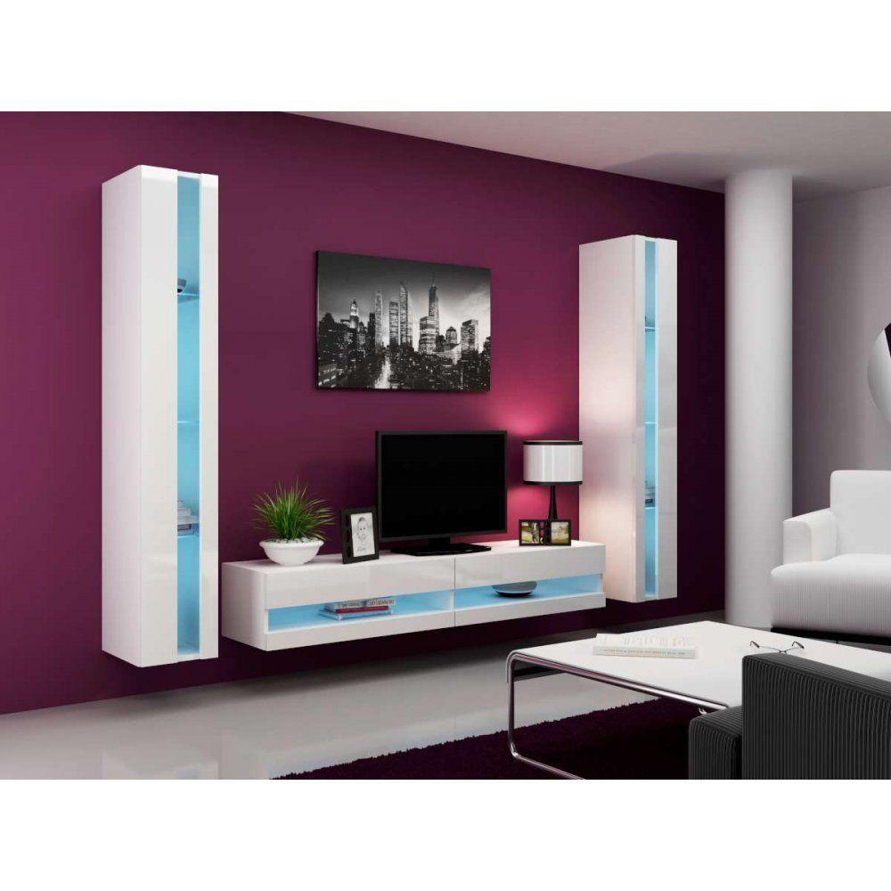 Justhome set vigo n iii living room furniture set wall unit with