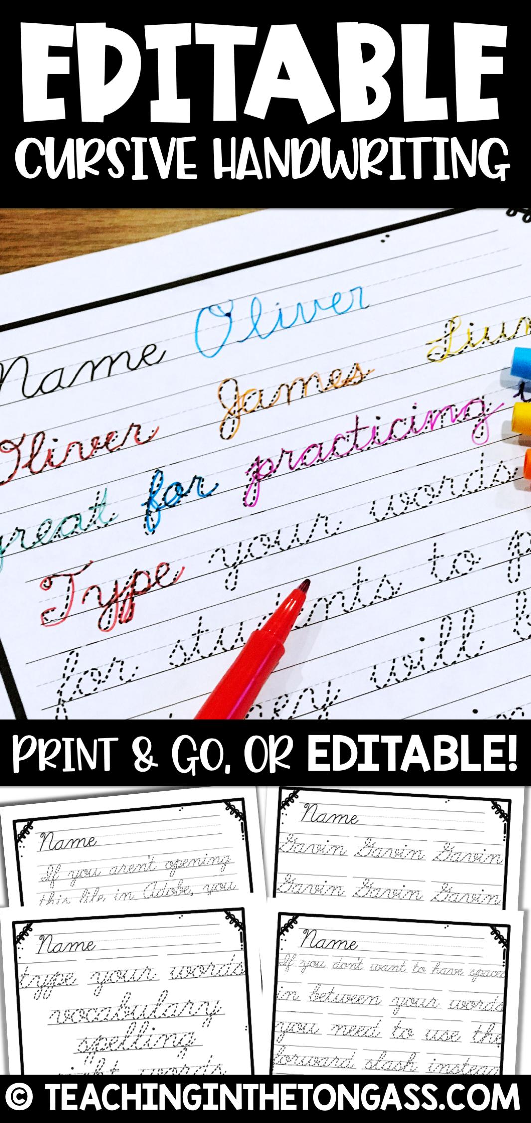 Print Amp Cursive Handwriting Practice Worksheets In