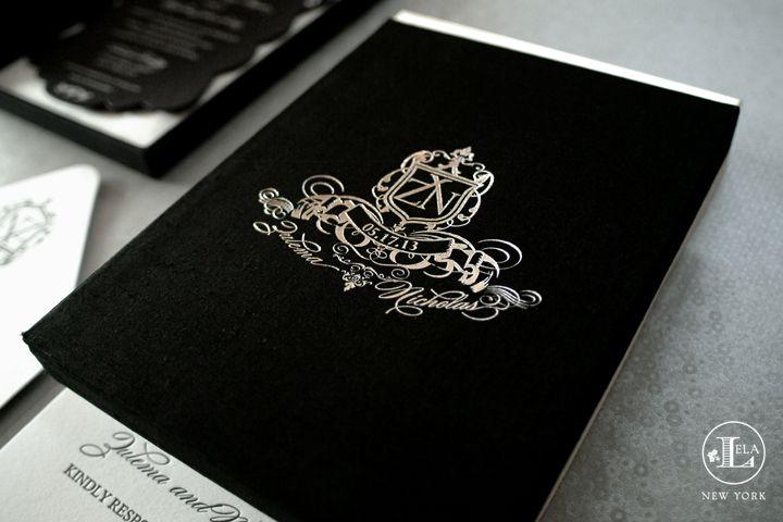 354d101d6e050b5904acf2b4a1cc2bcd black, white and silver luxury invitations lela new york,Luxury Invitation Cards