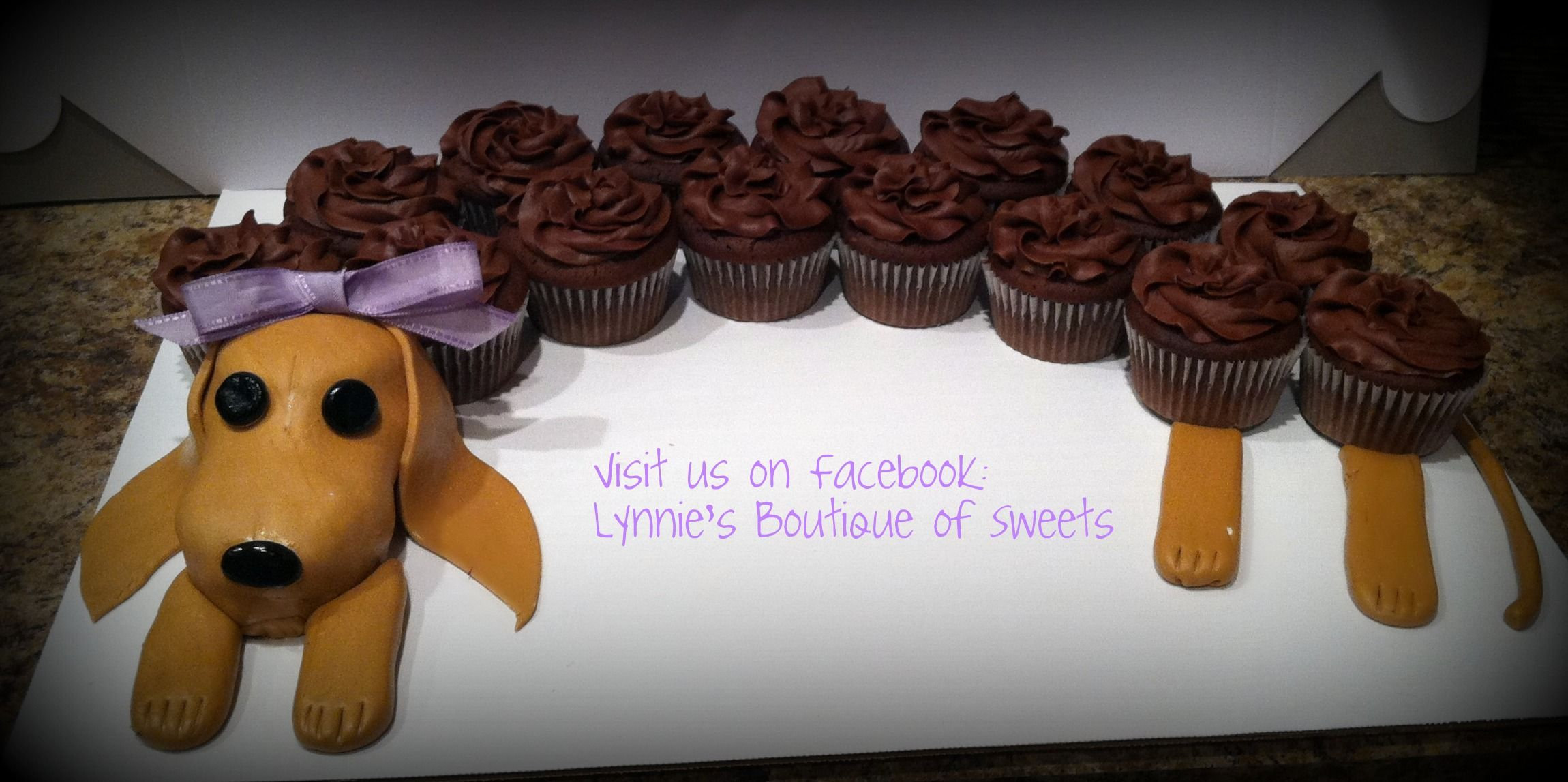 Dachshund Cupcake Cake With Images Dachshund Cake Cupcake
