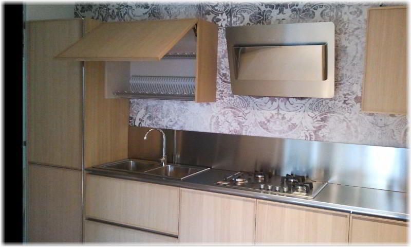 Cucina lineare Del Tongo modello Creta Frame ante sono in in legno ...