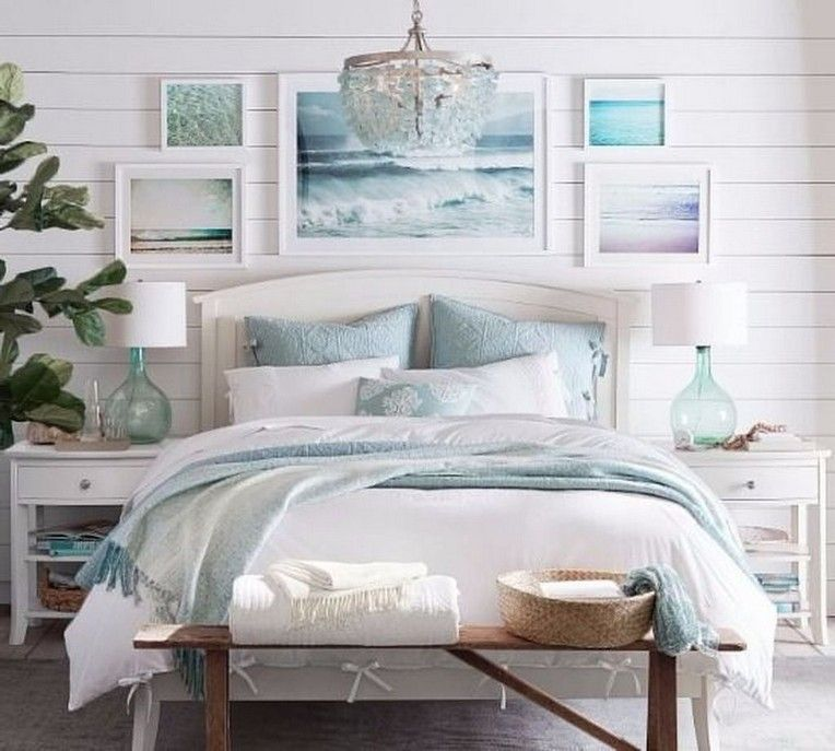 White Cottage Style Interiordesign: 40+ Remarkable Coastal And Ocean Bedroom Design Ideas