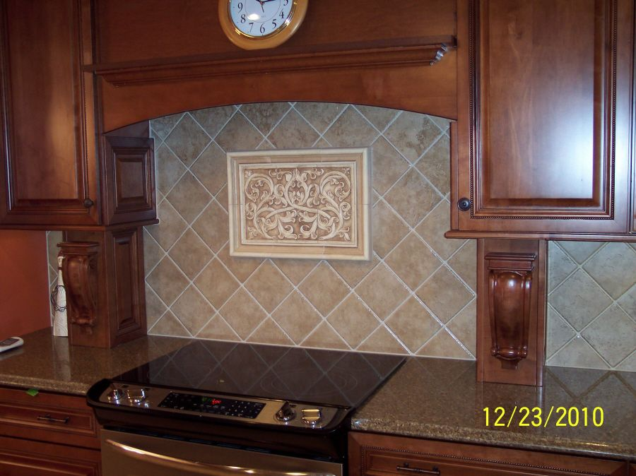 Decorative Ceramic Backsplash With Kitchen Backsplash S Painting