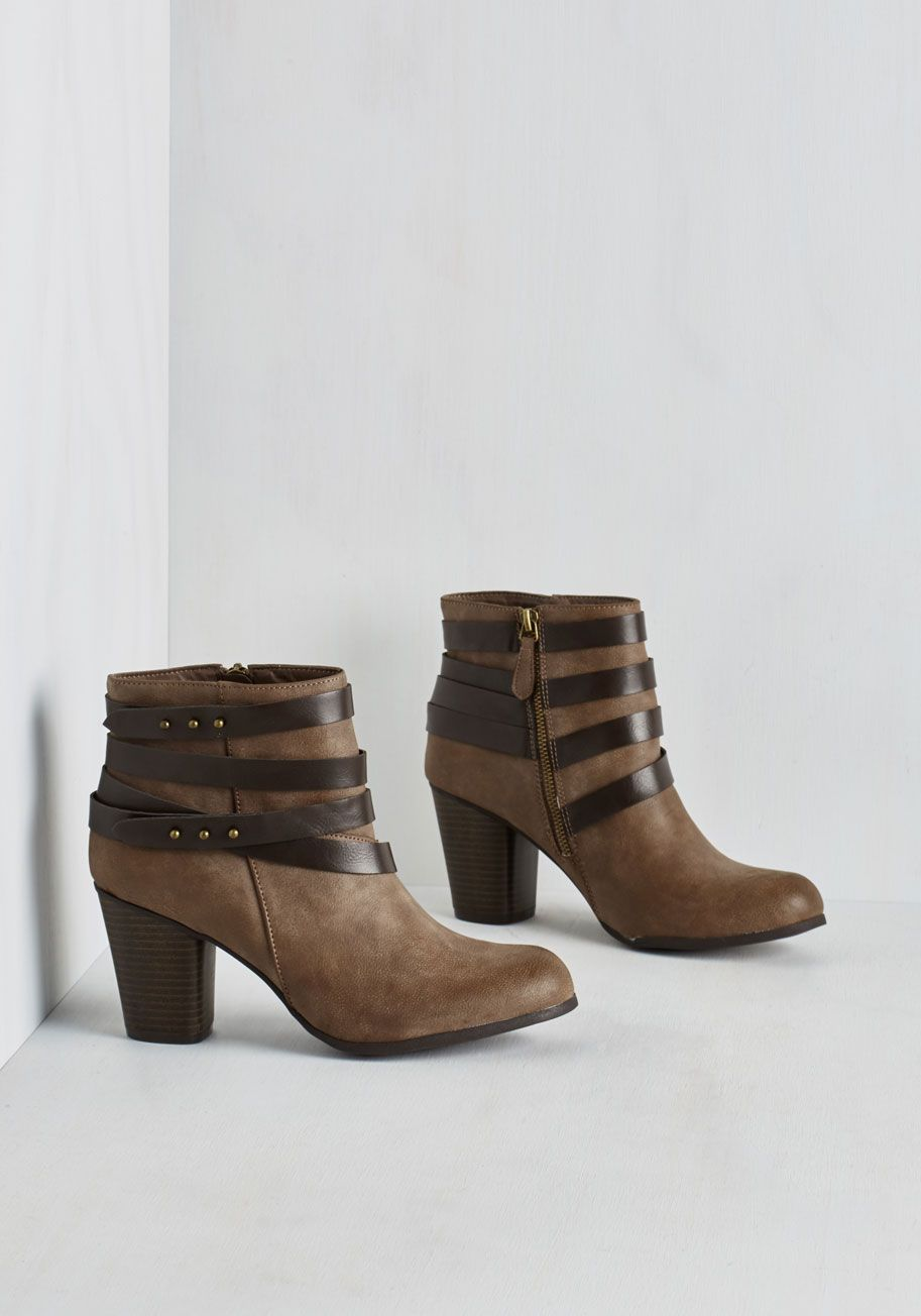 Tried and Troubadour Bootie in Mocha by