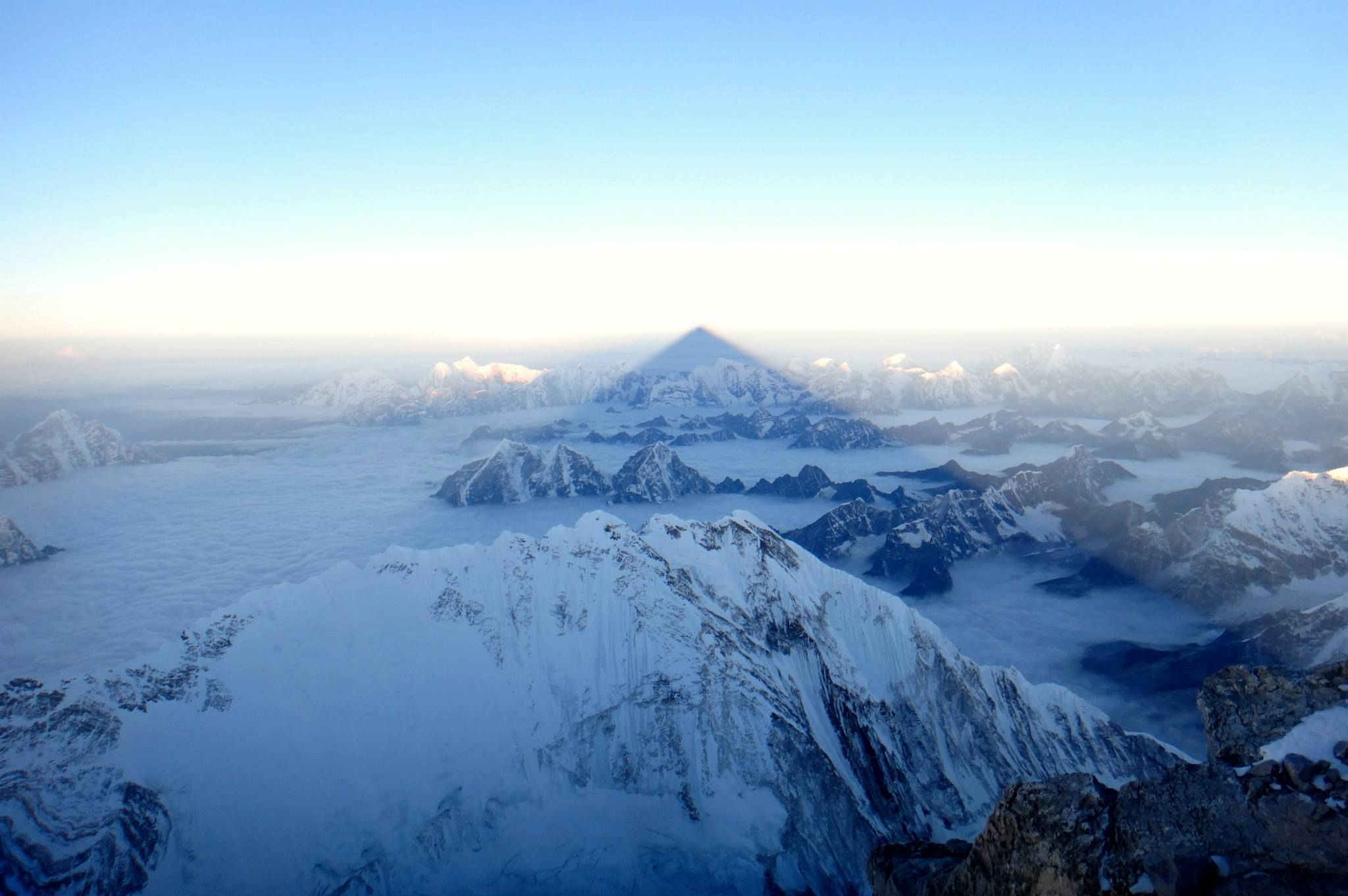 Mount Everest Summit Shadow - The Highest Point ASL in the World ...