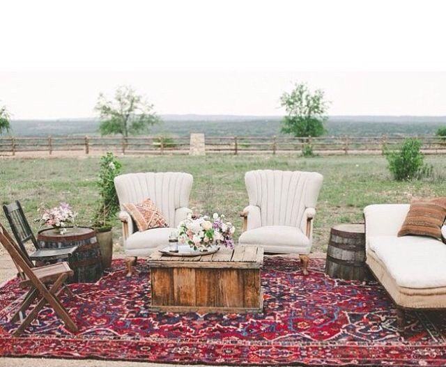 Post Ceremony Outdoor Area Add Standing Area As Well Wedding