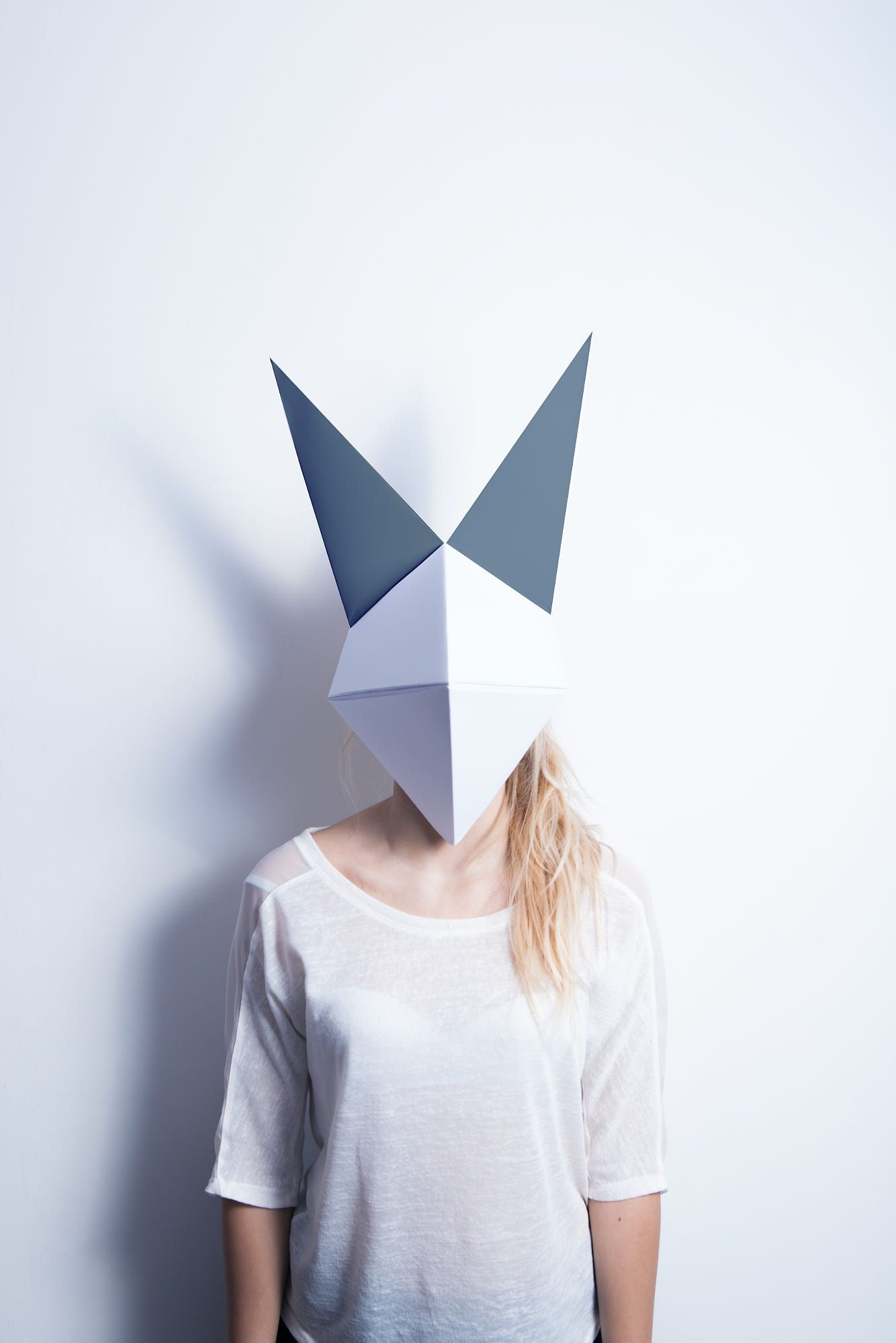 Origami fox mask image pinterest fox mask and masking origami fox mask jeuxipadfo Image collections