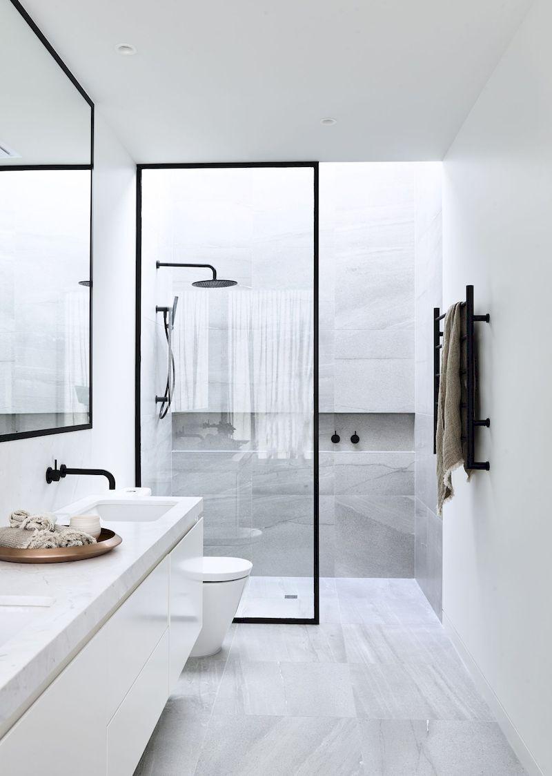 64 Cozy Small Bathroom Design Ideas For Small Space Minimalist Bathroom Design Bathroom Design Small Minimalist Bathroom