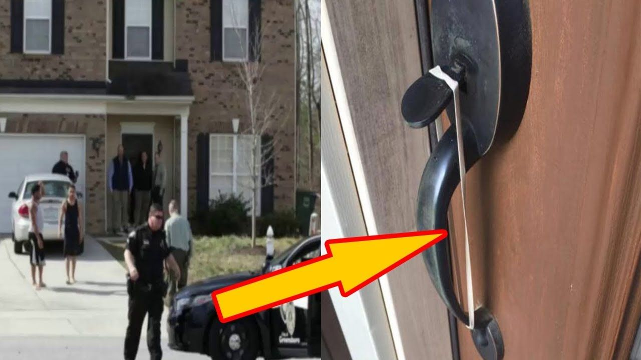 If You Spot A Rubber Band On Your Front Door Handle Don T Touch It Here S The Sick Thing It Means Youtube Front Door Handles Door Handles Front Door