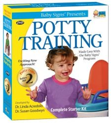 Potty Training Kit- Start early and reduce frustration by using sign language and cute videos. Get on board the potty train! $39.95