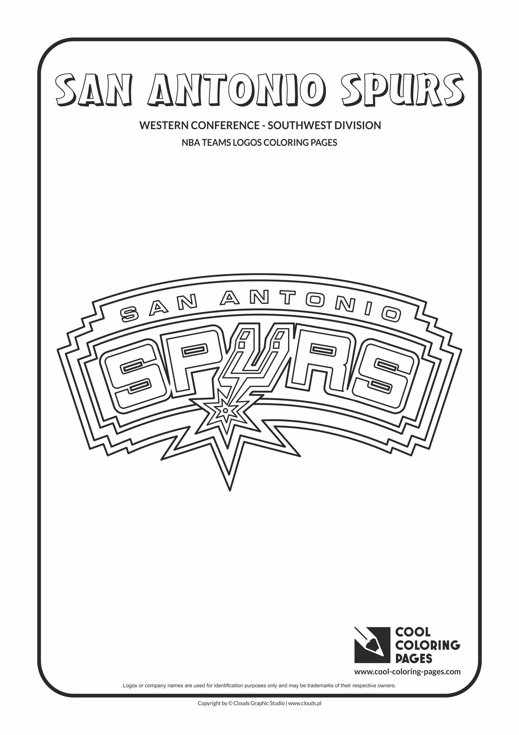 San Antonio Spurs Nba Basketball Teams Logos Coloring Pages