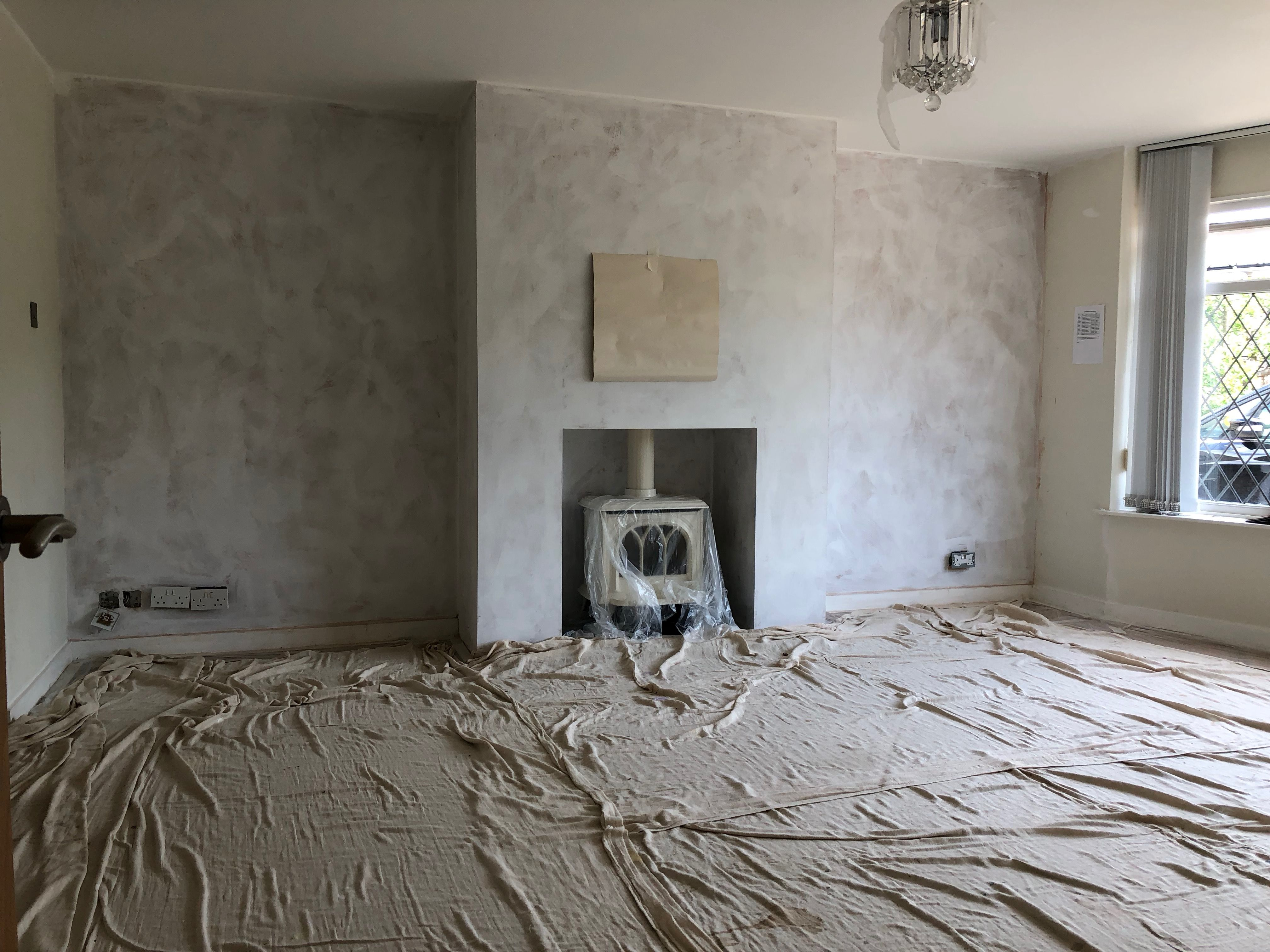 Chimney breast and fire installed lounge project pinterest