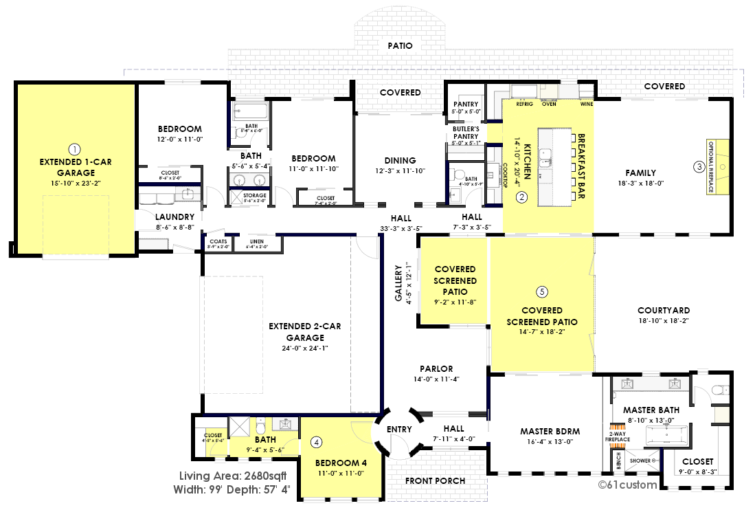 contemporary side courtyard house plan contemporary house plans