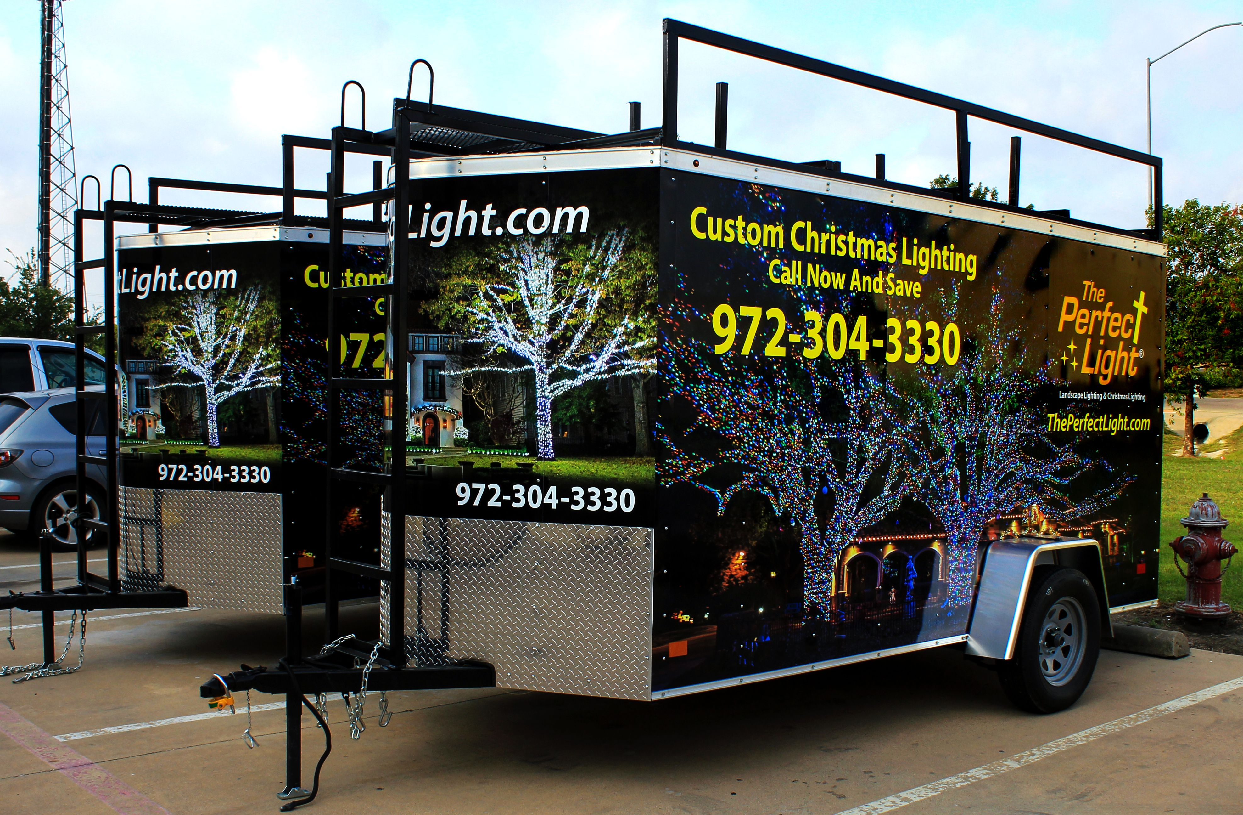 Holiday Exterior Lighting Advertising Trailer Wrap Fort