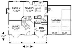 Colonial Style House Plan 4 Beds 2 5 Baths 2000 Sq Ft Plan 48 161