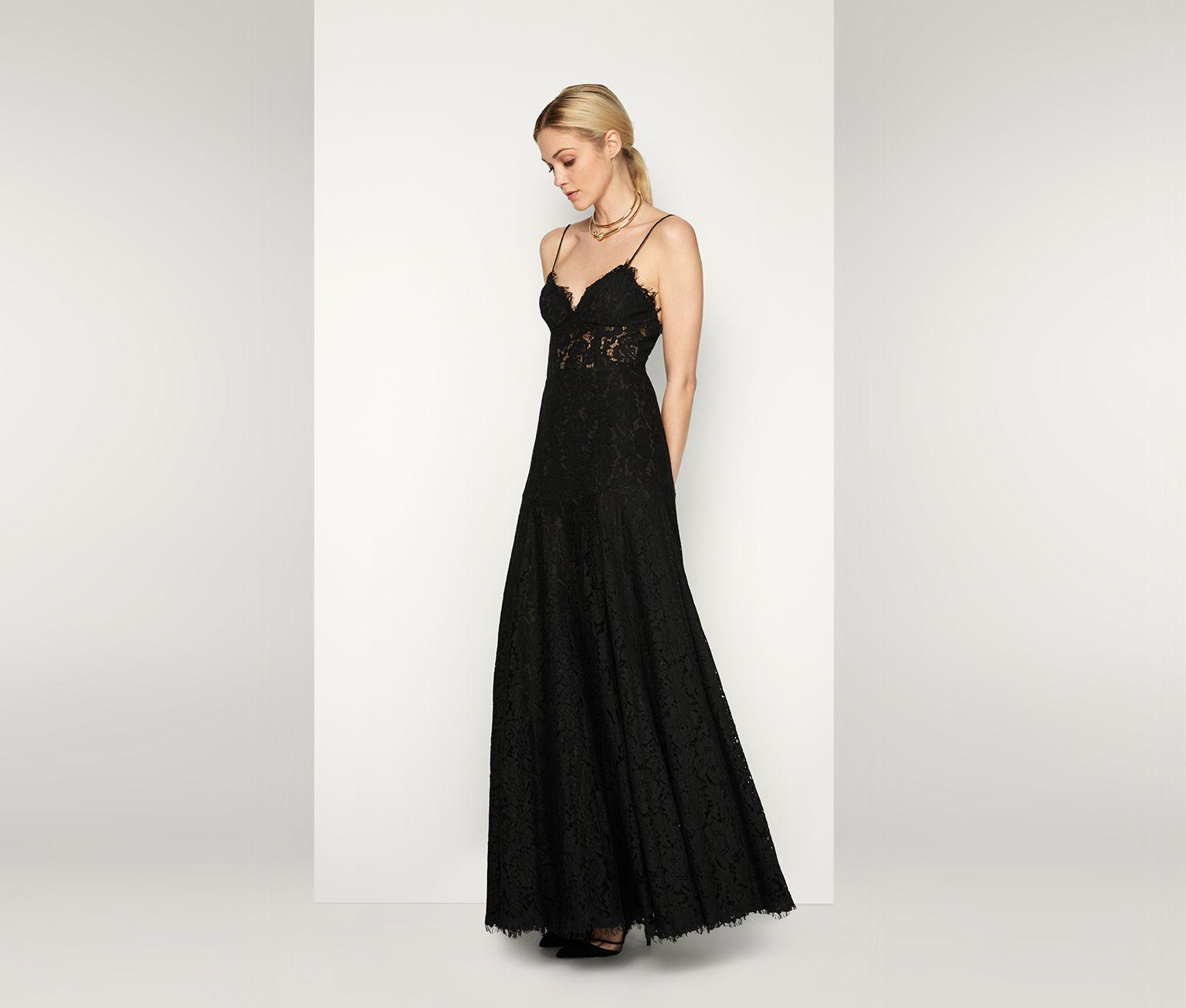 Black The Celestine Dress | Fame & Partners USA